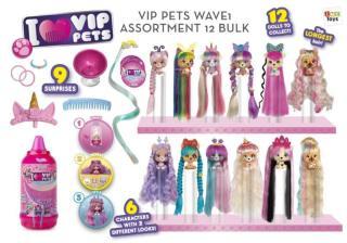 Pejsek VIP Pets s doplňky, extra dlouhé vlasy [HRAČKA]